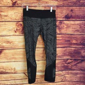 Lululemon Athletica Grey & Black Tropical Leggings